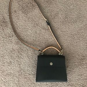 e1e56c054c76 Tory Burch Bags - used Tory Burch PARKER COLOR-BLOCK SMALL SATCHEL